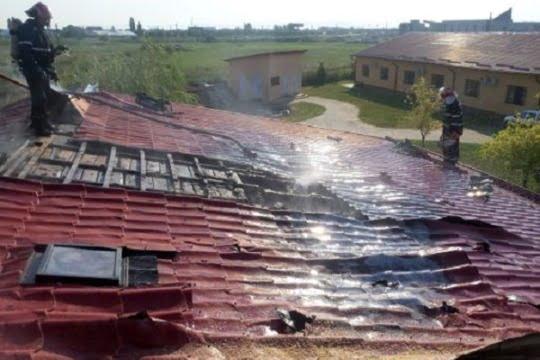 incendiu la un centru medical